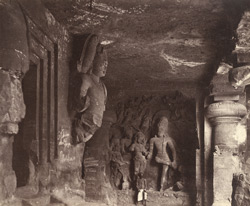 Interior view, Elephanta, Bombay 394112